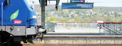 Vernouillet RER train transports